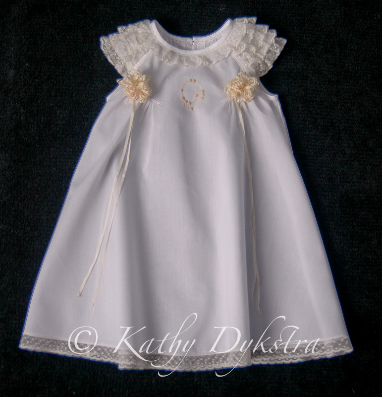 Raglan ruffled gown